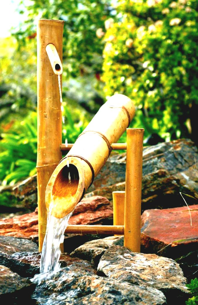 Imagenes de jardines imagenes de lindas fuentes de bambu - Bambu para decorar ...