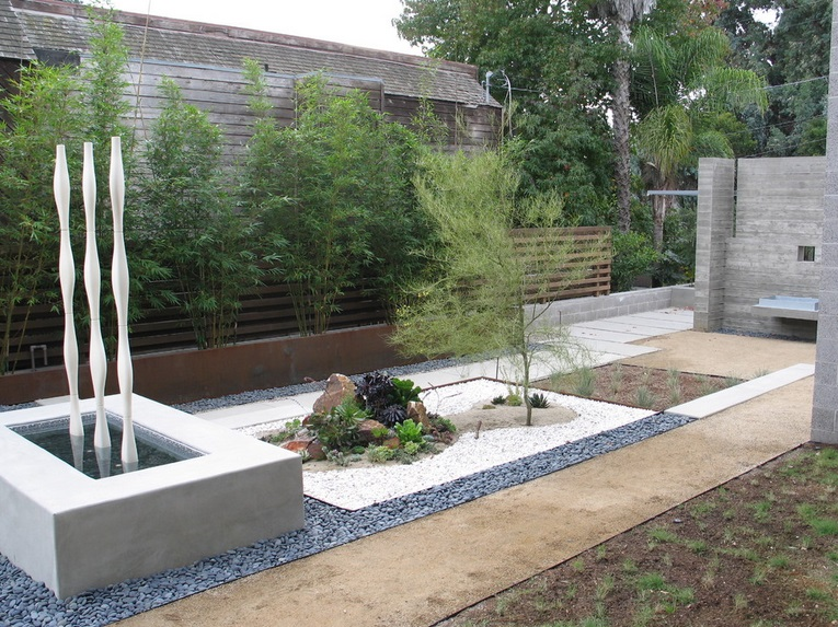 jardines modernos minimalistas con piedras - Jardines Minimalistas