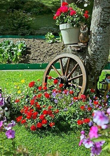Fotos con ideas de decoracion para jardines con flores - Fotos de jardines decorados ...